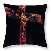 Crucifixion Throw Pillow