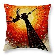 Crude Awakening Throw Pillow