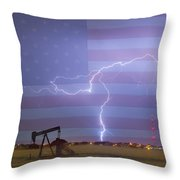 Crude Oil And Natural Gas Striking Across America Throw Pillow