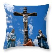 Cruficix Statue At Saint Alphonsus Church Wexford Throw Pillow
