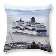 Cruising Out Of Astoria Throw Pillow