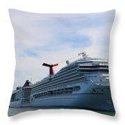 Cruise Line - Miami Florida Throw Pillow