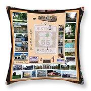 Cruise Night Poster Digital Art Throw Pillow