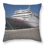 Cruise Ship Throw Pillow