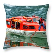 Cruise Ship Tender Boat  Throw Pillow