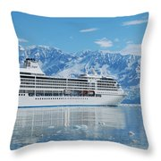 Cruisin' At Hubbard Glacier Throw Pillow