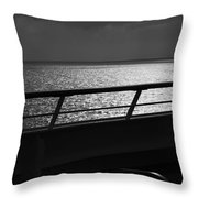 Cruisin In Black And White Throw Pillow