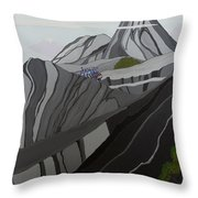 Cruisin' The Andes Throw Pillow
