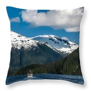 Cruising Alaska Throw Pillow