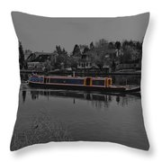 Cruising Along The Thamas River Throw Pillow
