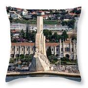 Cruising Along To Lisbon Throw Pillow