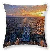 Cruising At Sunset Throw Pillow