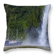 Cruising By A Waterfall Throw Pillow