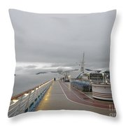 Cruising In The Fog 3 Throw Pillow