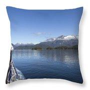 Cruising Inn Doubtful Sound South Island New Zealand Throw Pillow