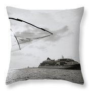 Cruising Into Cochin Throw Pillow