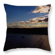 Cruising Into The Sunset Throw Pillow