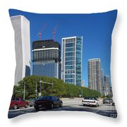 Cruising North On Lake Shore Drive In Chicago Throw Pillow