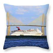 Cruising Tampa Bay Throw Pillow by David Lee Thompson