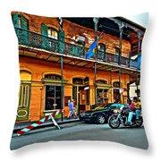 Cruising The Quarter Throw Pillow