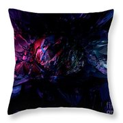 Crushed Abstract Throw Pillow