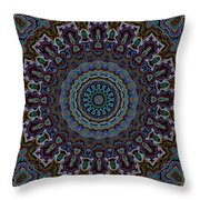 Crushed Blue Velvet Kaleidoscope Throw Pillow