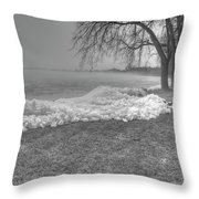 Crushed Ice 3 Throw Pillow