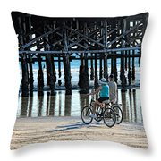 Crusin The Beach Throw Pillow