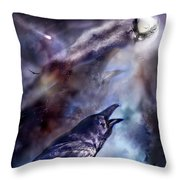 Cry Of The Raven Throw Pillow