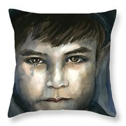 Crying In The Shadows Throw Pillow