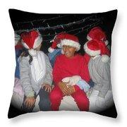 Crying Junior Santa Christmas Parade Eloy Arizona 2005-2013 Throw Pillow