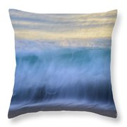 Crying Waves Throw Pillow
