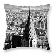 Crysler Building In New York City Throw Pillow