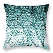 Crystal Blue Throw Pillow