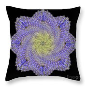 Crystal Blue Salvia Throw Pillow