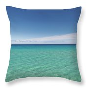 Crystal Blue Water With Nobody, No Throw Pillow