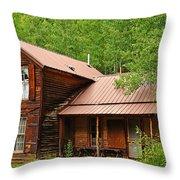 Crystal Cabin Throw Pillow