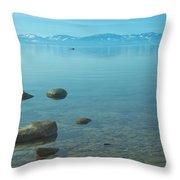 Crystal Clear Lake Tahoe Throw Pillow
