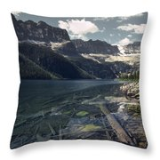 Crystal Clear Mountain Lake Throw Pillow
