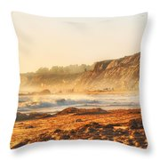Crystal Cove At Sunset 1 Throw Pillow