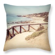 Crystal Cove Overlook Picture Throw Pillow by Paul Velgos