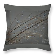 Crystal Droplets - Melting Snow Throw Pillow