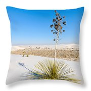 Crystal Dune Tree At White Sands National Monument In New Mexico. Throw Pillow