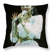 Crystal Gayle Throw Pillow