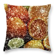 Crystal Grapefruit Throw Pillow
