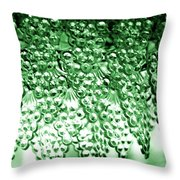 Crystal Green Throw Pillow
