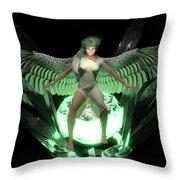 Crystal Guardian Throw Pillow
