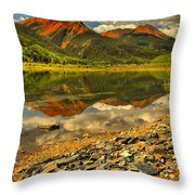 Crystal Lake Reflections Throw Pillow
