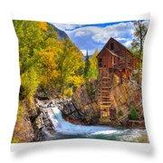 Crystal Millin Throw Pillow
