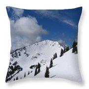 Crystal Mountain Bluest Sky Throw Pillow